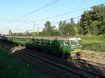 ЭР2Т-1265, въезд на БМО, около Бекасово.  ЭР2Т-7144, перегон пл.Какошкино-пл.Крекшино.